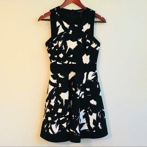 Banana Republic Black Graphic Floral Dress NWT